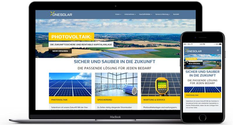 One Solar bei Lehrmann Internetservice
